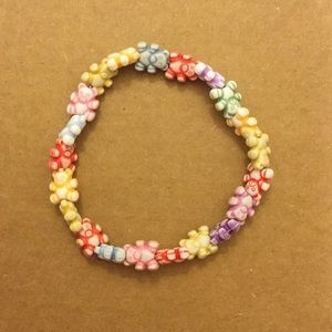 Other - Multicolor stretchy bear bracelet 6 inches